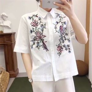 (3/$30) Zara Embroidered Floral Button Down